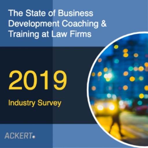 white paper on the state of business development coaching at law firms 2019 by Ackert Advisory