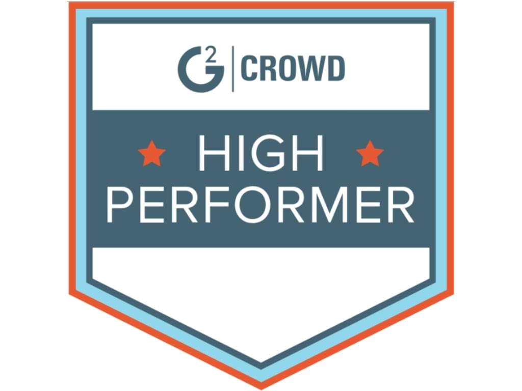 High Performer award from G2 Crowd