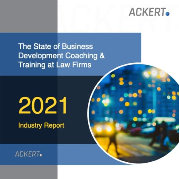 portfolio book cover with title The State of Business Development Coaching and Training at Law Firms