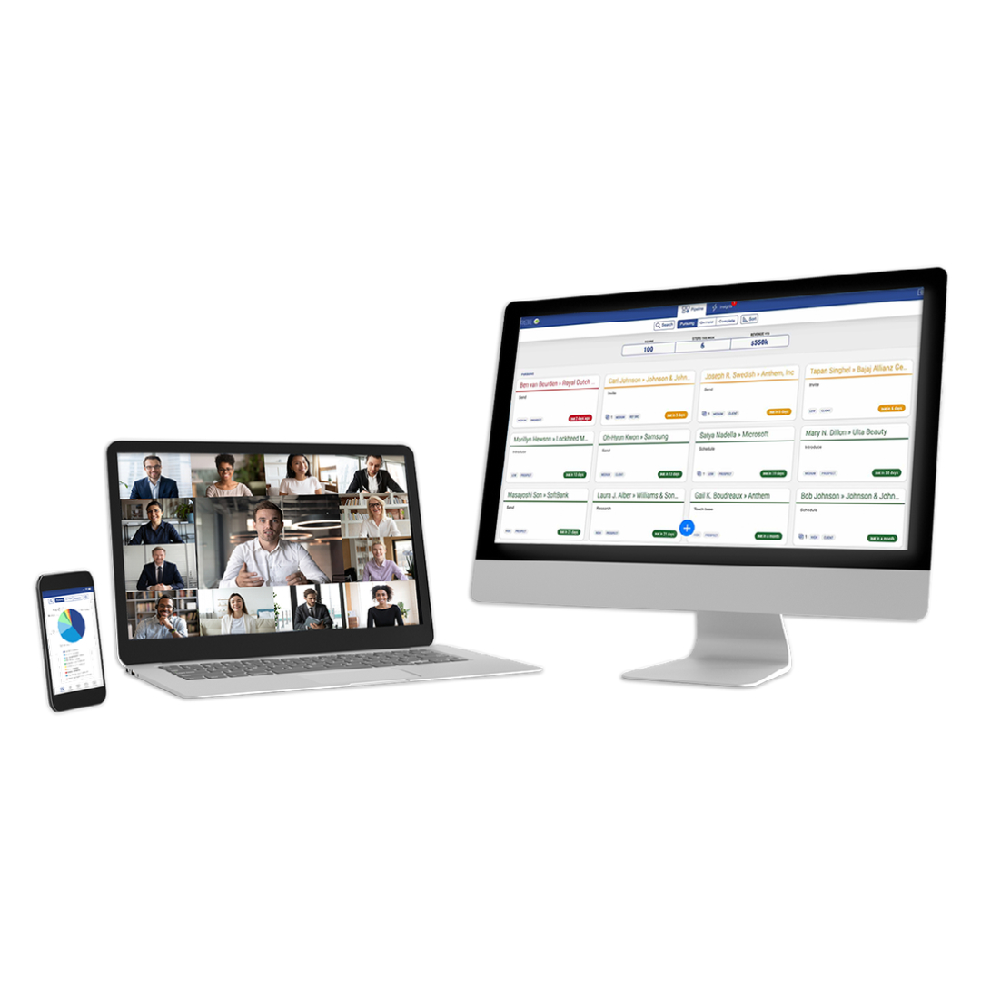 Access the PipelinePlus app on desktop or mobile devices to stay on top of priorities